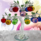 Crystal Glass Apple Tree Ornaments