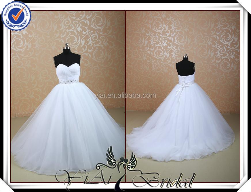 Tt0515 Diamond Puffy Skirt Wedding Dress Real Picture ...