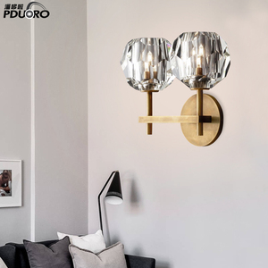 crystal candle holders hotel lobby wall light led wall sconces modern BD1461