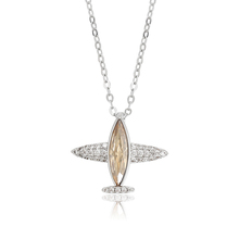 44072 xuping airplane fake diamond necklace 결정 from Swarovski
