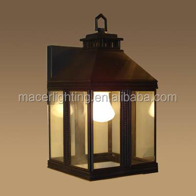 European Modern Outdoor Elegant Brass Wall Lights Lantern