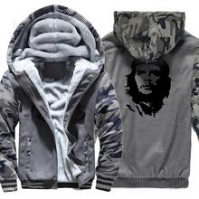 Ernesto Guevara Stampa Streetwear Harajuku Hoodies Degli Uomini 2018  Primavera Inverno Felpa In Pile di Spessore Per Il Maschio . 15b3f4ff8980