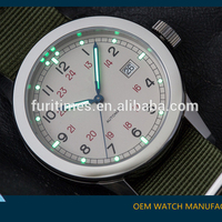 New Products watch! Green Army Nato Strap Superluminous dial and hand men Military Watches