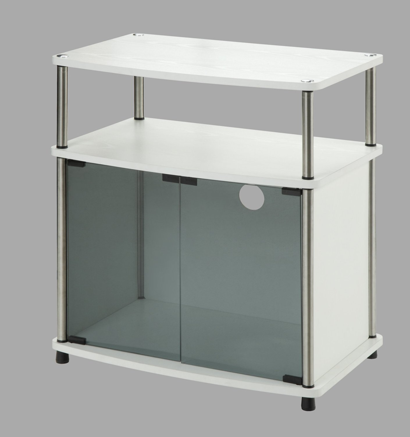 Buy Convenience Concepts Designs2go Glass And Steel Tv Stand For Tvs