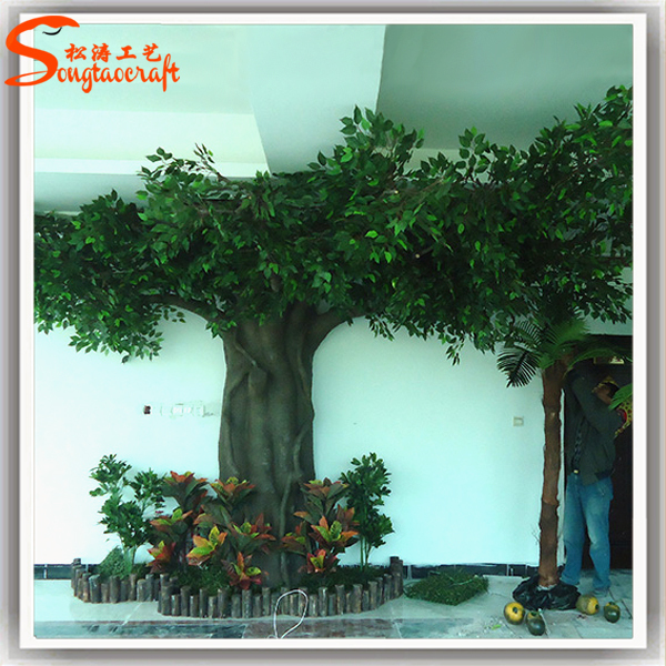 Made In China Outdoor Artificial Vertical Garden Making Fibreglass  Artificial Plants Trees Artificial Trees For Office