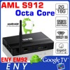 Amlogic S912 factory ENY EM92 octa core tv top box 2.4ghz remote control