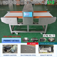 Customized Industry metal detector Conveyor belt for food,plastics,toy product,garment,textile fields (AT-J500G)