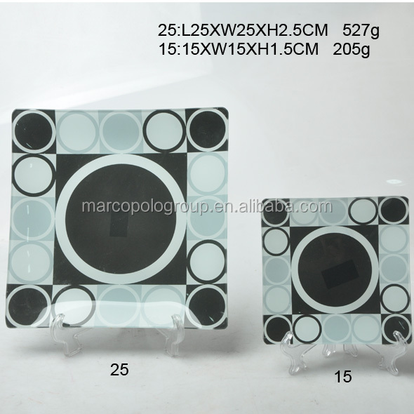 Square shape dinner tableware glass plate colored glass flat plate & Buy Cheap China square glass dinner plates Products Find China ...