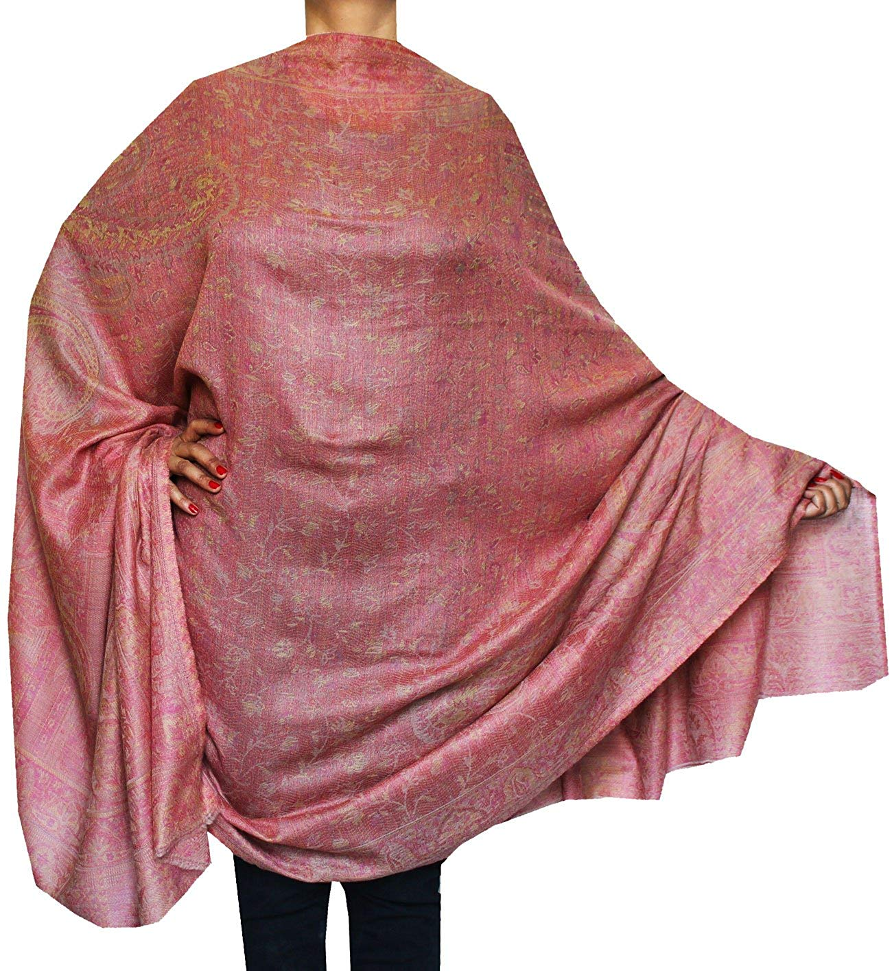 38ba431c9f Get Quotations · Maple Clothing Indian Shawl Paisley Wool Wraps Women's (82  x 42 inches)