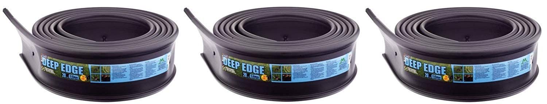 Master Mark Plastics 22620 Deep Edge Landscape Edging 6 Inch by 20-Foot, Black (Pack of 3)