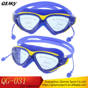 High quality Factory price Ear plugs Anti-fog silicone straps Mirrored Swim Goggles