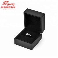 Custom Packaging Boxes Black Fold able Gift Magnetic Ring Box