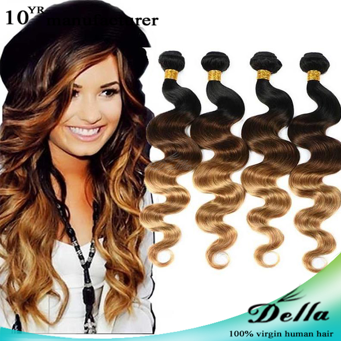 ombre Peruvian Remy 400g Body Wave Wavy Virgin Unprocessed Human Hair Extension