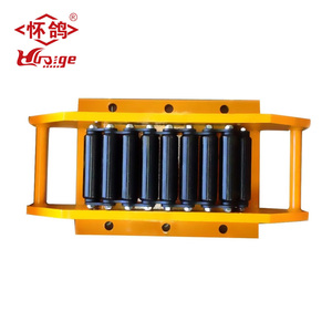 heavy duty 18 ton roller skate transportation dolly material moving trolley