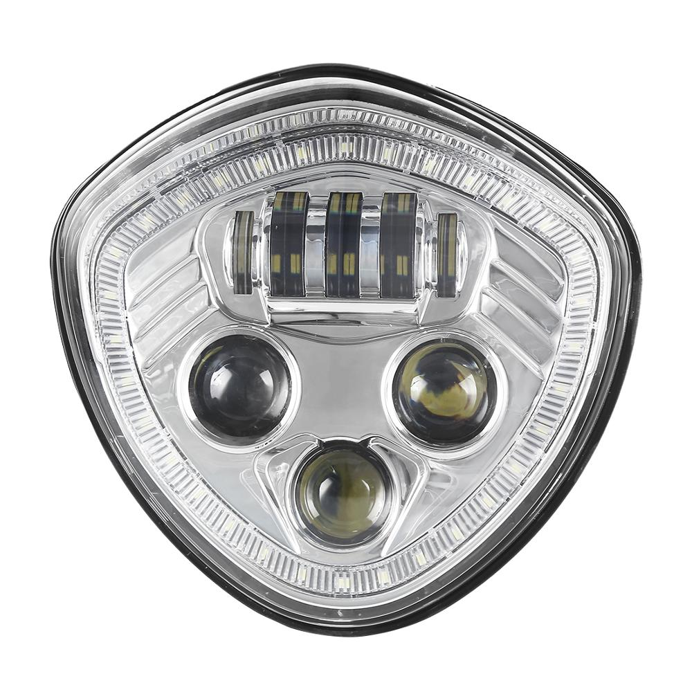 SANYOU Chrome H / L-Strahl Angel Eye LED-Scheinwerfer für Cross Country-Straßenkreuzer