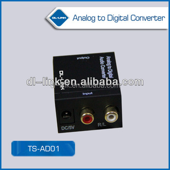 Analog To Fiber Coaxial Audio Converter Adapter With Rca Input ...