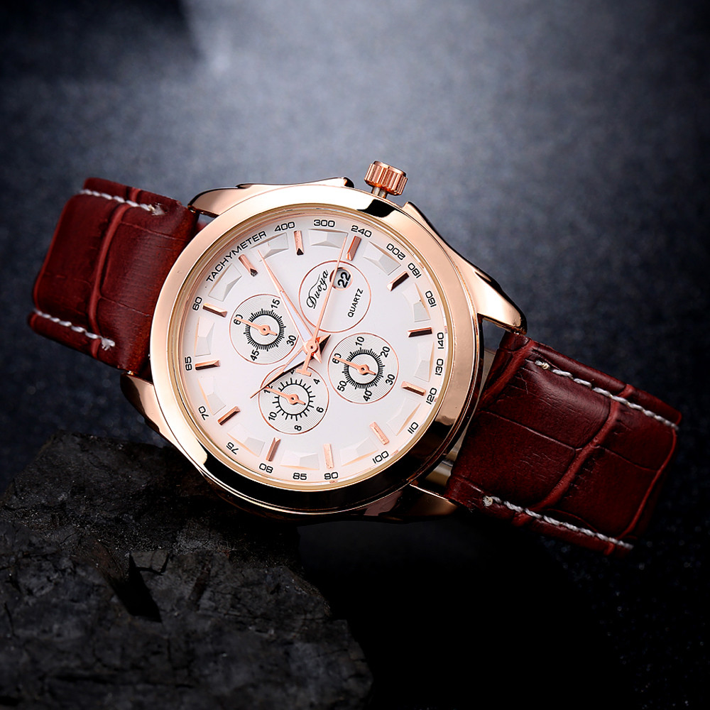 ᐂDuoya Casual Fashion ᗜ Ljഃ Men s Men s Business Quartz Watch ... d9fbcadf2b31