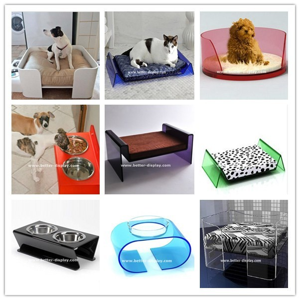wholesale acrylic plastic raised dog bowl