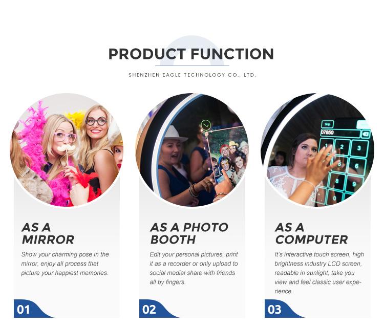 55 pouces Miroir Magique Boîtier Photo Instantanée Machine D'impression De Photo Cadre Multi-écran Tactile Selfie Photos