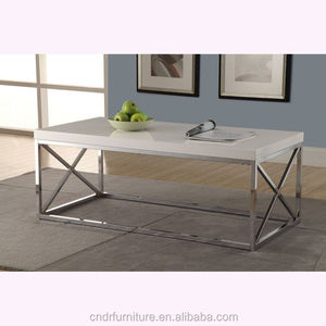 Chrome frame PU painting top nesting coffe table for USA market