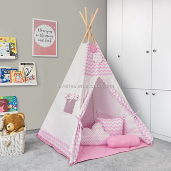 CE Approved Kids Play Tent Teepee Play Tent Toy Indoor Out Door Tipi Tent  Children