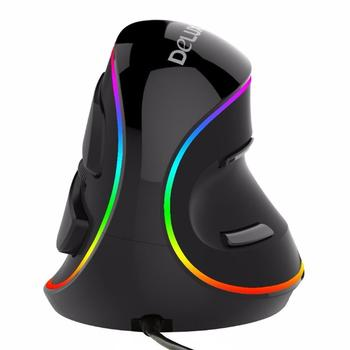 DeLUX M618 Plus RGB Wired Optical Mouse Ergonomic Vertical Mouse 1600 DPI