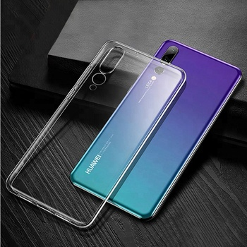 Factory direct sale soft clear transparent tpu case cover For Huawei P20