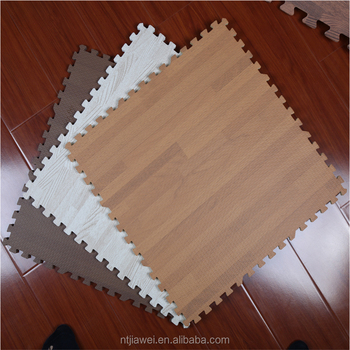 Teak Wood Effect Foam Interlocking Floor Mats Floor Protection Mat