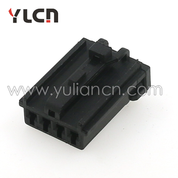 4 pin black female plastic ip65 water wire socket connector plastic