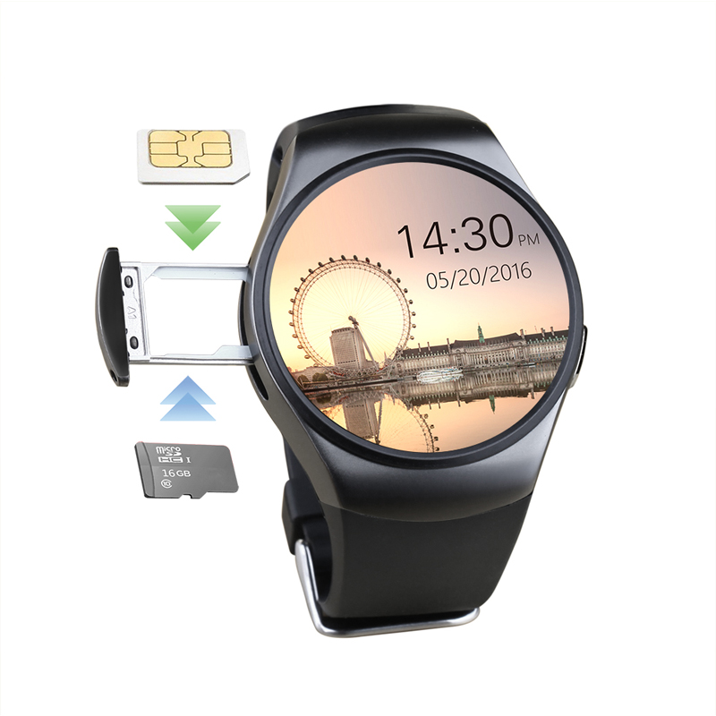 Chinese Smartwatch phone KW18 Support Pedometer SIM Card TF Card Compatible for both android and ios