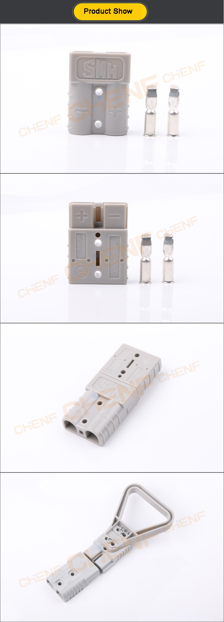 2pin DC Quick Release Draad Connectors 50A 600 v Batterij Oplader Plug Connector