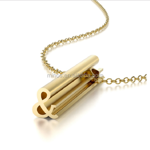2018 Fashion Symbol Pendant Necklace 18K Gold Stainless steel Pendant Necklace