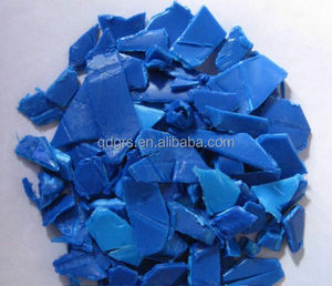 lowest price Recycled/Regrinded HDPE Blue Drum Scraps flakes