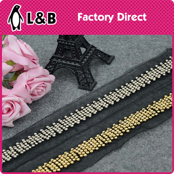 wholesale black gold trims for dress scarf sequin and beads trimming ... 98f691a96ba62