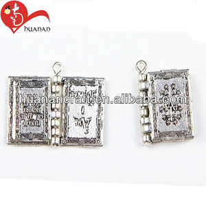 Latest design product religious rosary accessories alloy photo album pendent