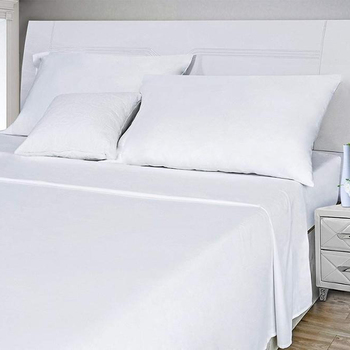 White Premium 300TC Queen Size 100% Bamboo Super Silky Soft Anti-Bacterial Bed Linen Sheet Set