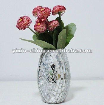 Mirrored Decorative Mirror Glass Mosaic Vase Buy Mosaic Vaseglass