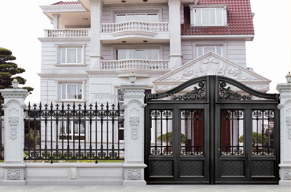 2016 latest house main aluminum gate designs metal gate for Wall gate design homes