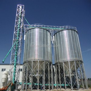 90 ton granule mixing hopper bottom steel silo