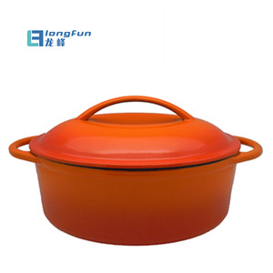 28cm Cast Iron Oval Dutch Oven