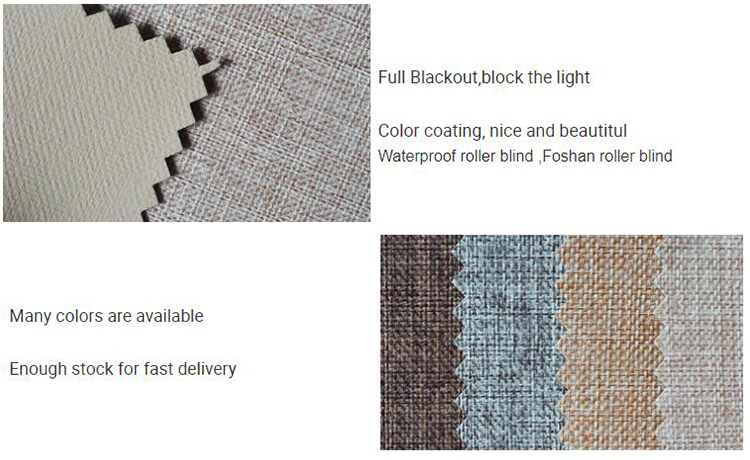 Customized size quick delivery 100% polyester blackout fireproof waterproof outdoor roller blinds