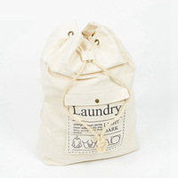 Factory Stock Large Cotton canvas drawstring laundry, laundry bag drawstring laundry bag