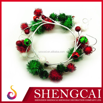 wholesale artificial decorative green christmas wreaths - Artificial Christmas Wreaths Decorated