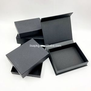 Custom Small Black Kraft Package Wallet Clothes Wig Gift Paper Box