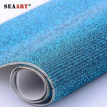 SR06 Iron On Sheet Crystal Rhinestone Mesh Fabric, Hot Fix Tape Chain Roll Glass Strass