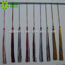 polyester cream grey tassel fringe for decoration curtain and key