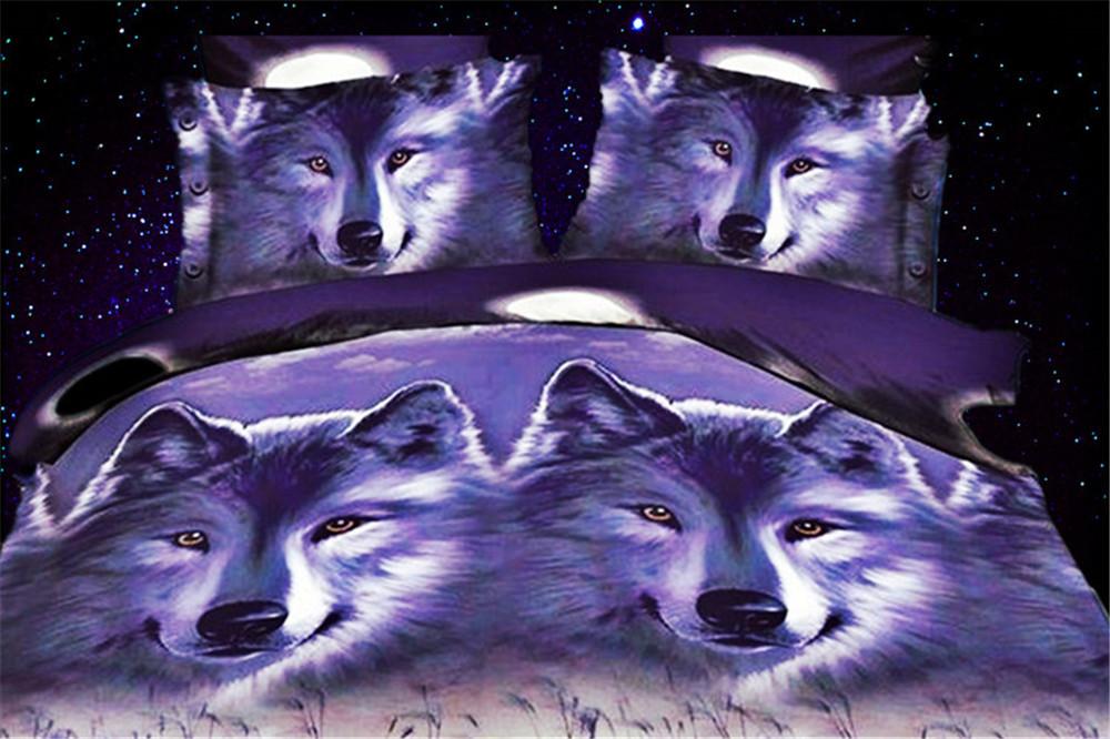 Online Get Cheap Wolf Print Bedding -Aliexpress.com