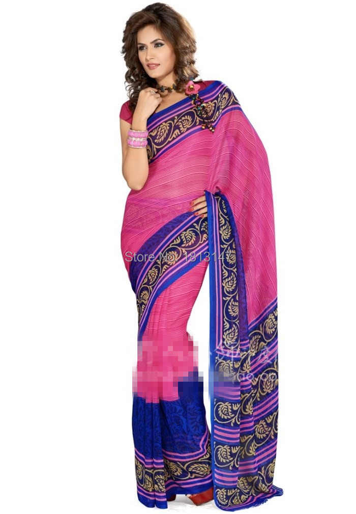 7d414de267f16 Get Quotations · 2015 New Indian traditional dress sari 2-color saree light  chiffon saris free shopping