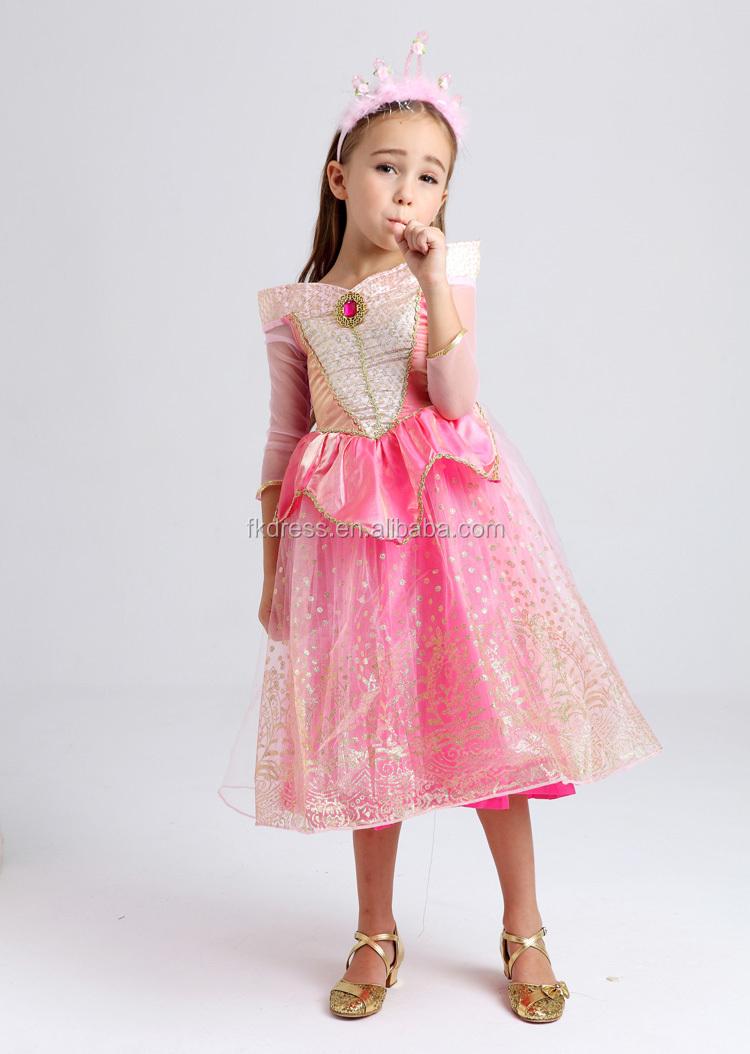 Los niños al por mayor belleza durmiente disfraz princesa verano ...