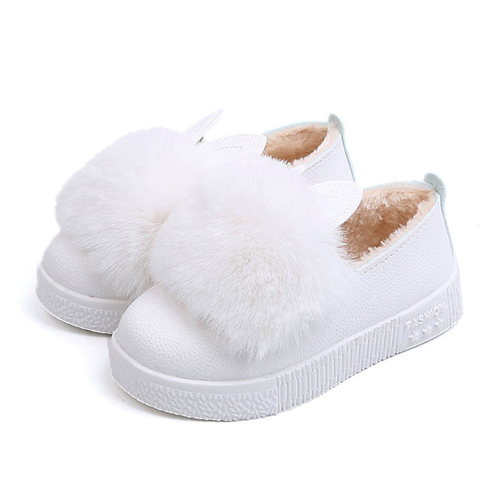 b4f38807cd Children Boots Shoes 2019 New Winter Warm Baby Sneaker Girl Bunny Soft  Plush Anti-slip girls boots rabbit ear Shoe Dropshipping